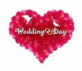 婚礼那天 — 图库矢量图片
