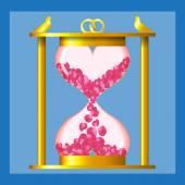 Hourglass of love — Stock Vector