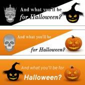 Three Halloween Poster — Stock Vector
