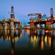 Repair of the oil rig in the shipyard. — Stock Photo #58822273