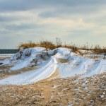 Beautiful winter landscape, and Sea — Stock Photo #58898629