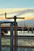 Emergency brake, Station wagon — Stock Photo