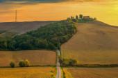 Tuscany - Landscape panorama, hills and meadow, Toscana - Italy — Stockfoto