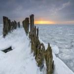 Beautiful winter landscape and Sea — Stock Photo #59683707