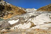 在瑞士的阿尔卑斯山冰川融化 — 图库照片