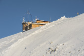 Visible weather station on Mount Kasprowy — Stock Photo