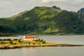 Church in fjord — Stock Photo