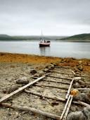 Scenic fjord on Lofoten islands — Stock Photo