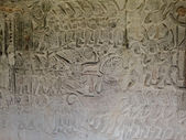 Bas-relief from Bayon temple in Cambodgia — Stock Photo
