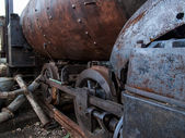 Old locomotive from Havana — Stock Photo