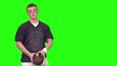 Happy football player — Stock Video