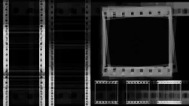 Film negative animation — Vídeo stock
