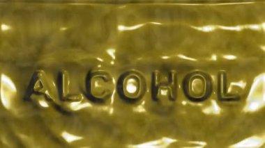Alcohol inscription — Stockvideo