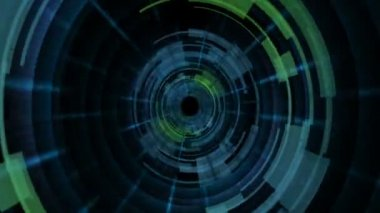 Traveling through hi-tech tunnel — Stock Video