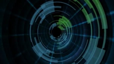 Rotating hi-tech tunnel — Stock Video