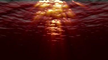 Ocean waves from underwater — Stock Video