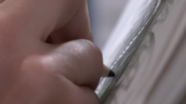 Detail of pencil drawing — Vídeo de stock