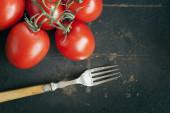 Tomatoes on Dark Background. — Stock Photo