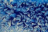 ウィンドウ上の氷のパターン — ストック写真