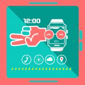 Smart watch concept — Stock Vector