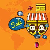 Compras en línea — Vector de stock