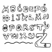 Children alphabet spelled out — Stock Vector