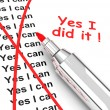 Yes i did it! — Stock Photo #58990079