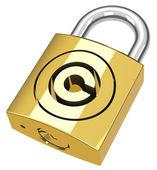 The copyright padlock — Stock Photo