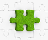 The grass puzzle — Stock Photo