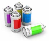 Spray cans — Stock Photo