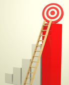 The growth target — Stock Photo