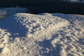 Path and ice at Cotopaxi  — Stock Photo
