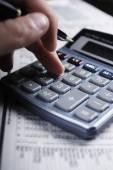 Doing the finances — Foto Stock