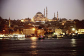 Evening view of the Hagia Sophia in Istanbul, Turkey — Stock Photo