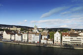 Typical street scene of Zurich — Stock Photo