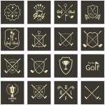 Set of vintage golf labels — Stock Vector #80612048