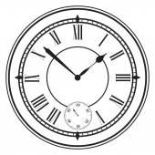 Vintage clock face. — Stock Vector