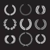 Set of laurel frames — Stock Vector