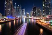 Nightscapes, skyscrapers, Dubai Marina, United Arab Emirates — Foto de Stock