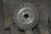 Metal  round brush for tools — Stock Photo