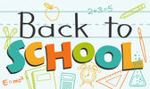 Colorful Back to School — Stock Vector
