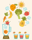 Fun Smoothie — Stock Vector