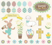 Set of Easter Icons — Stock Vector
