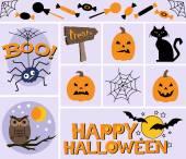Halloween Graphics Set — Stock Vector