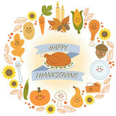 Happy Thanksgiving Banner — Stock Vector