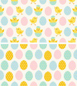 Seamless Easter Patterns — Stok Vektör