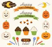 Halloween Decorative Elements Set — Stock Vector