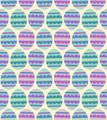 Pattern of Colorful Easter Eggs — Stock Vector