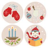 Christmas Illustrations Set — Stock Vector