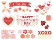 Elements for Valentine's Day — Stock Vector